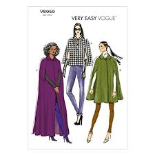Cape Sewing Pattern Extraordinary Amazon Vogue Patterns V48 Misses' Cape Sewing Template Size