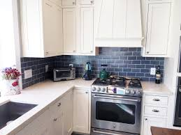 Delighful Kitchen Backsplash Blue Subway Tile And Copper T Throughout Innovation Ideas