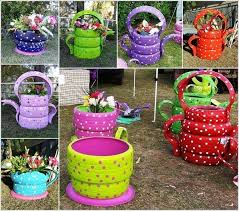 garden crafts. 10 Colorful Garden Crafts To Make From Old Tires 1