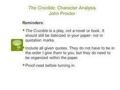 john proctor essay the crucible  john proctor essay the crucible