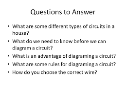 electricity wiring diagrams ppt video online download Different Types Of Wiring Diagrams questions to answer what are some different types of circuits in a house what do we different types of electrical wiring diagrams