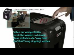 <b>Rexel Auto</b> Plus <b>200X</b> 2103175 Aktenvernichter - YouTube