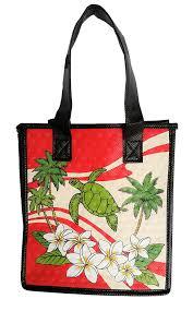 hawaiian honu turtle tote bag reusable gift bags hawaii luau party gift small 9x8x5 75