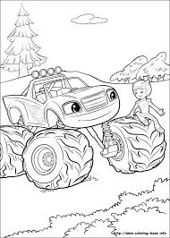 Coloring Pages Blaze Coloring Pages To Print And The Monster