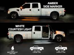 2pc Amber Truck Running Board LED Light Kit with Courtesy Lights