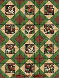 127 best Quilting images on Pinterest | Blue jeans, Crafts and ... & Wild Horses Western Horse Colts Fabric Easy Pre-Cut Quilt Blocks Top Kit Adamdwight.com