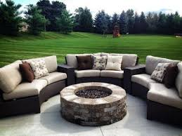 bonita springs sectional with firepit