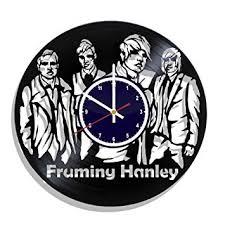framing hanley rock band wall clock made from real vinyl record framing hanley wall poster