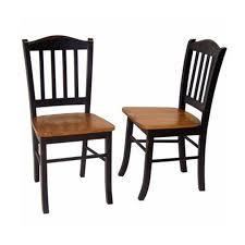 Black Wood Dining Chairs Amazoncom Boraam 30536 Shaker Chair Black Oak Set Of 2