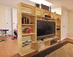 wood crate furniture diy. crate media center diy wood furniture n