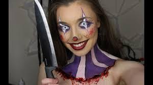 creepy cute clown makeup tutorial 31 days of