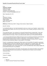 Cover Letter Examples For Registered Practical Nurses Adriangatton Com
