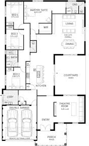 Hampton One Design North Hampton Single Storey Home Design Master Floor Plan