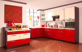Modern Kitchen And Bedroom Red White Kitchen Ideas