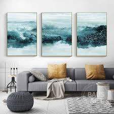 abstract painting framed wall art set
