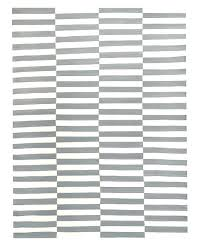 gray striped rug white