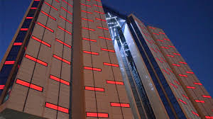 building facade lighting. Amari Doha, Four Stars Hotel, Doha Qatar: Lighting Project And Execution By MASQ Building Facade