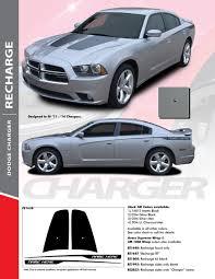 Recharge Combo 2011 2014 Dodge Charger Split Hood Decals And Rear Quarter Panel Stripe Vinyl Graphics Kit