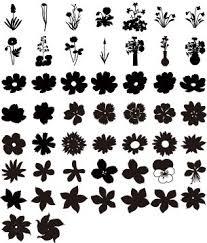 Amazon 商用okフラワーシルエット300種類以上の花のシルエット