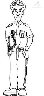 1001 Kleurplaten Beroepen Politieman Kleurplaat Politie Agent
