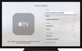 apple tv. closed captions apple tv