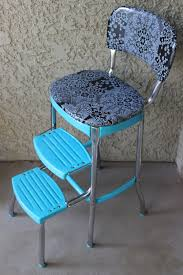 1950 s turquoise blue cosco step stool by bittybowling on 135 00