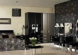 room bedroom with black furniture