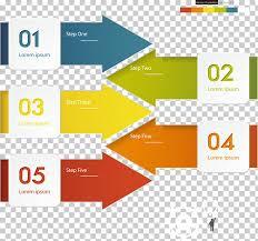 Arrow Chart Arrow Chart Diagram Infographic Three Dimensional Square