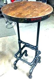pub table 4 chairs antique bistro bar 3 value vintage base industrial pipe wine barrel ring