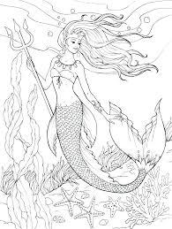 Printable Mermaid Coloring Pages For Kids Mermaid Coloring Page Free