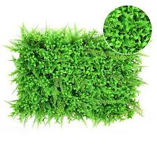 artificial plant foliage hedge grass mat greenery panel decor wall fence 60x40cm