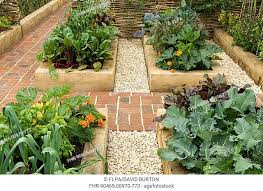neat and tidy vegetable garden with
