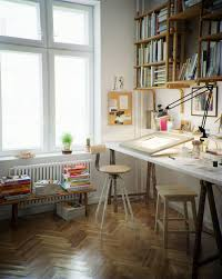 Bathroomgorgeous inspirational home office desks desk Pottery Barn Cheerful And Creative Decoist Creative Corners Incredible And Inspiring Home Art Studios