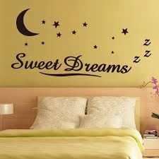 zy8245 wall sticker quotes sweet dreams