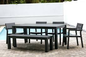 6 piece patio dining set 6 piece dining set with bench 6 person patio dining set