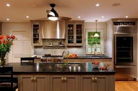 refrigerator in kitchen corner. contemporary family kitchen with a glass door refrigerator in the corner s