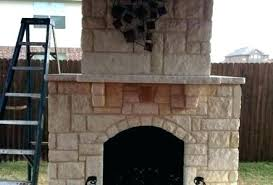 austin stone fireplace faux rock pictures home improvement built this and used slabs fo