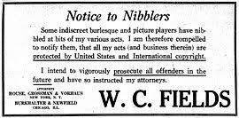 W. C. Fields - Wikipedia