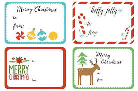 Clean Christmas gift tags on Word Label