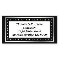 silver address label silver dots foil border address labels current catalog