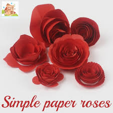 How To Make Flower Paper How To Make Simple Paper Roses And Beautiful Roses For