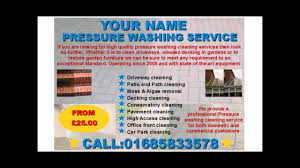 Services Flyer Pressure Washing Services Flyer Template Youtube