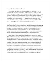personal statement sample documents in pdf word personal statement medical school
