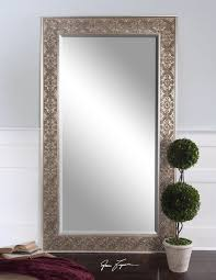 uttermost villata antiqued silver champagne leaf wall floor mirror xl 70 x 40 mirror 60 x 30