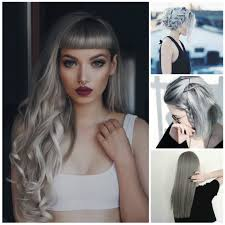 Long Grey Hair Styles Latest Grey Hairstyle Ideas Haircuts Gray Hair Styles 2017