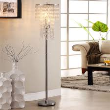 Crystal Rain 3-light Chrome Crystal Floor Lamp by iNSPIRE Q Bold by iNSPIRE  Q