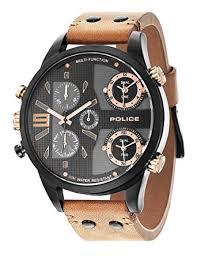 police copperhead multifunction mens watch p14374jsb 02 amazon co police copperhead multifunction mens watch p14374jsb 02