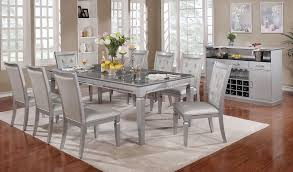 alena silver dining room set from furniture of america coleman furniture