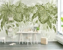 Beibehang Custom Muur Papier Verse Gras Groen Blad Plant Jungle Feng