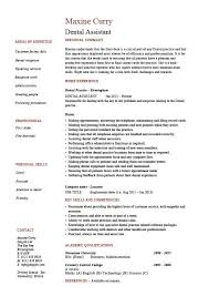 Resume Template For Dental Assistant Amazing Dental Assistant Resume Dentist Example Sample Job Description